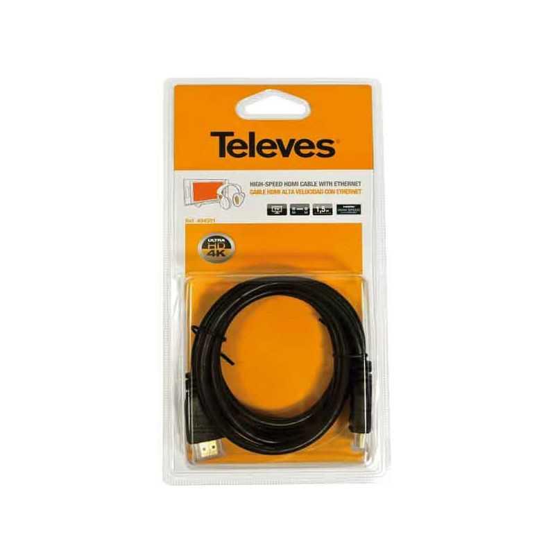 Cable HDMI Alta Velocidad con Ethernet Televes