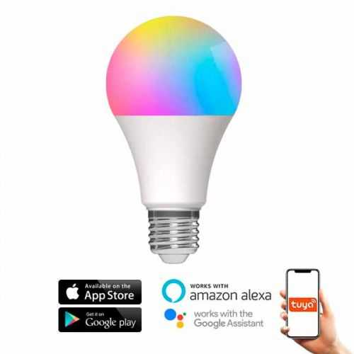 Bombilla LED RGB+CCT E27 10W SmartHome Alexa-Google