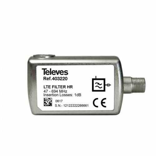 Filtro LTE/5G HR conector F Televes