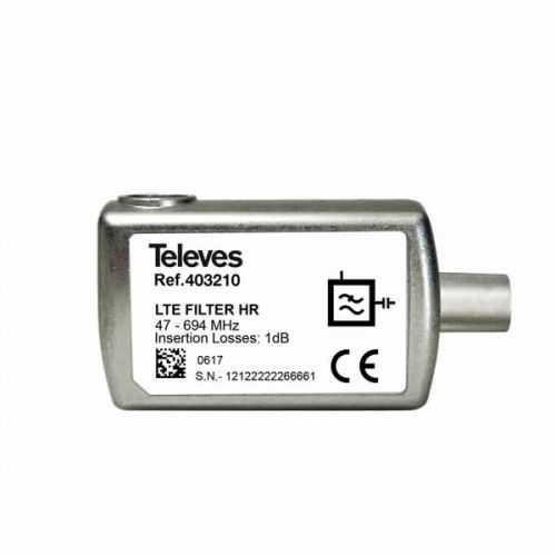 Filtro LTE/5G HR conector CEI Televes
