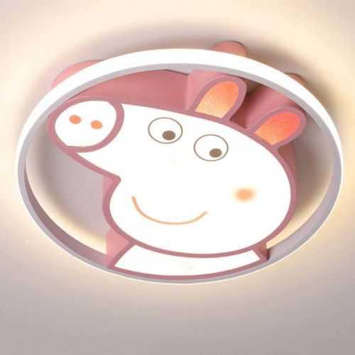 Plafón LED 50W Juvenil Peppa Pig Rosa Mando distancia