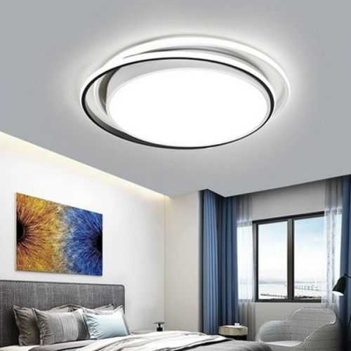 Plafón LED diseño Aros Blanco-Negro 50W mando distancia