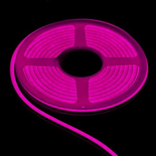 Tira LED Neon Flex 8W/m 12Vdc Rosa IP67 5m
