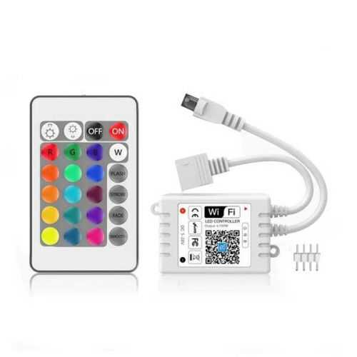 Controlador RGB WIFI + Infrarojos compatible con Alexa/Google home