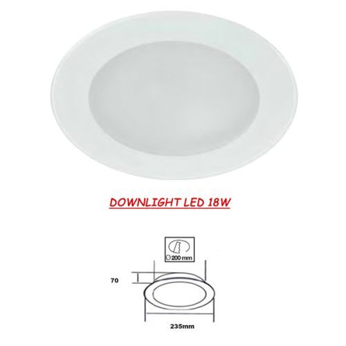 Downlight LED Cristal Blanco 18W
