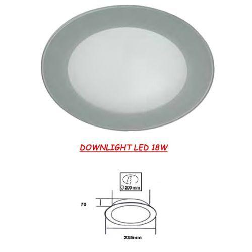 Downlight LED Cristal Gris 18W
