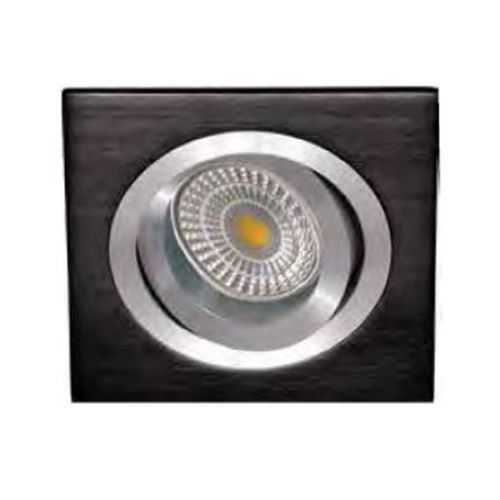 Empotrable Cuadrado recto Aluminio Negro-Cromo
