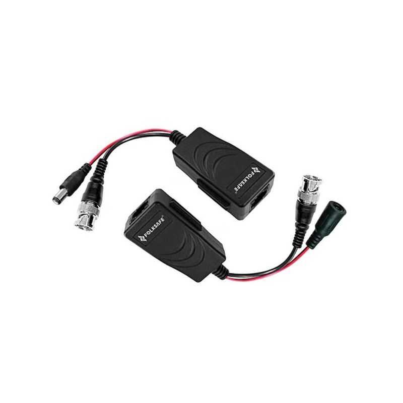 Balun transceptor pasivo vídeo y alimentación HD-TVI , AHD, CVI, CVBS