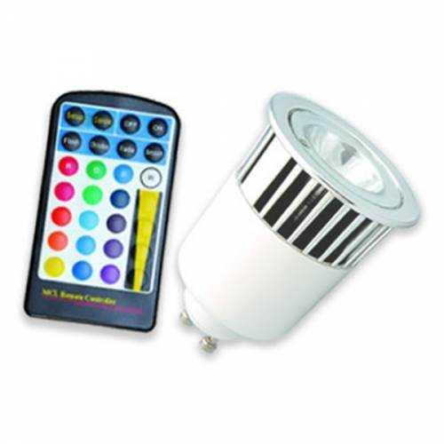 Bombilla LED RGB GU10 5W Mando a distancia