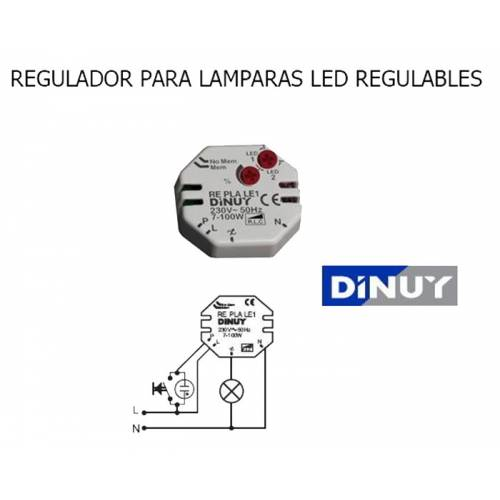 Regulador bombillas de LED DINUY