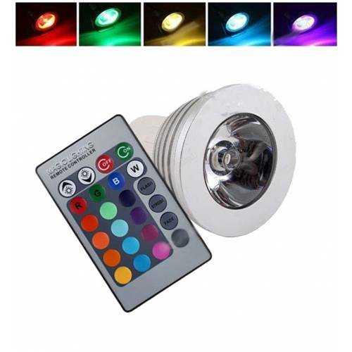 Bombilla LED RGB GU10 4W Mando a distancia