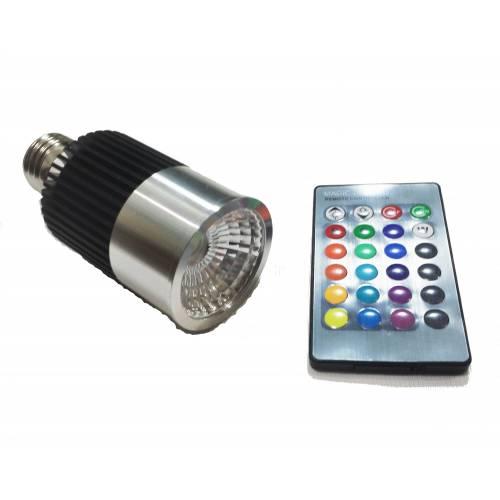 Bombilla LED RGB GU10 10W Mando a distancia
