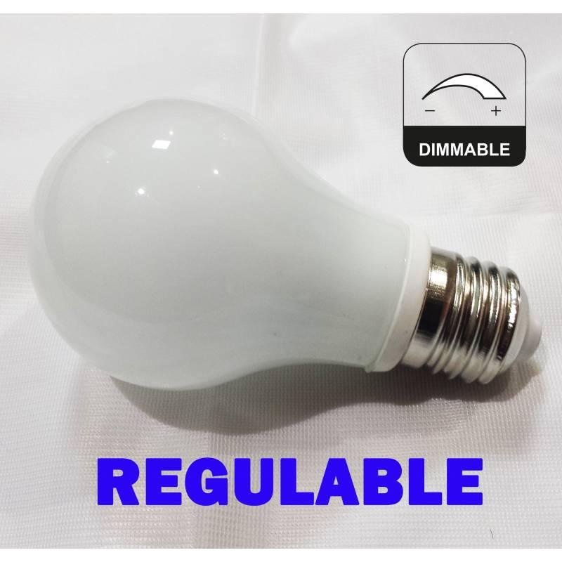 Bombilla led 7w e27 cristal 360 regulable for Bombillas led de 7w