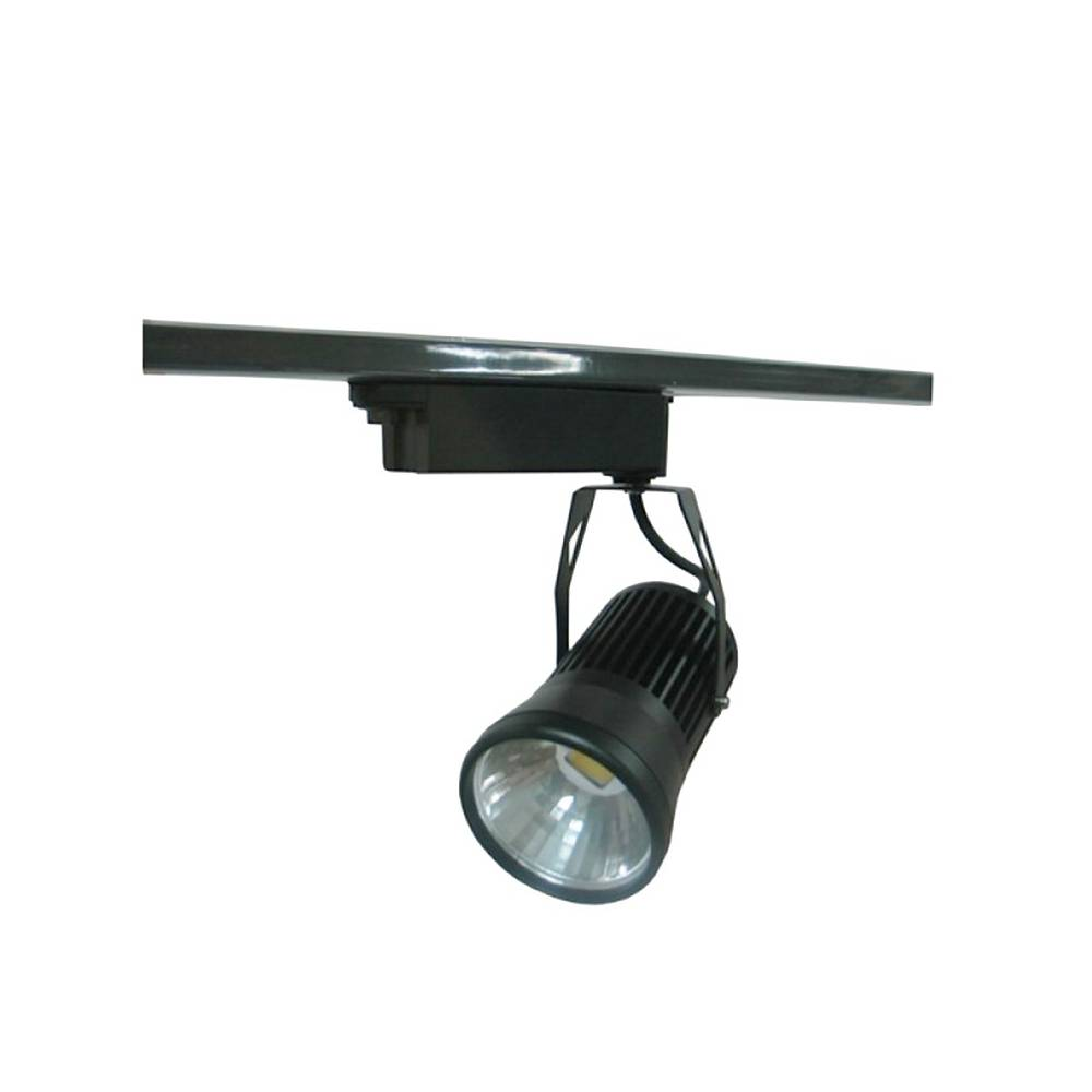 Proyector led carril monof sico 20w negro for Focos led para cocina