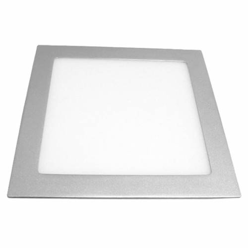 Downlight LED Panel Cuadrado 18W Plata Gris