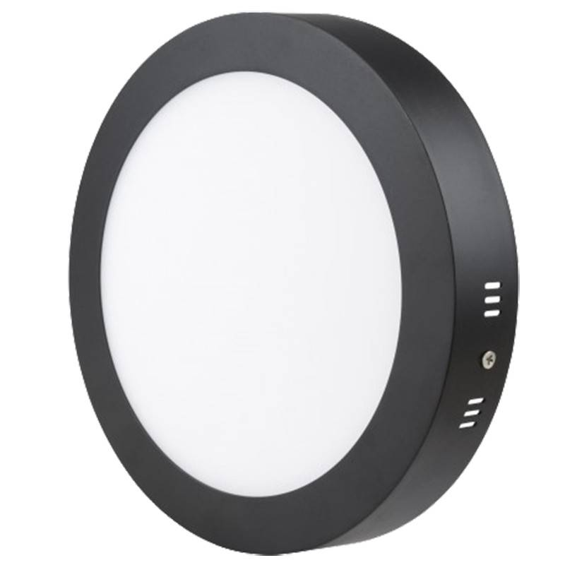 Plafón LED superficie 18W Negro