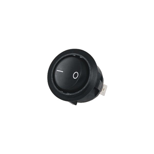 Interruptor redondo basculante Negro