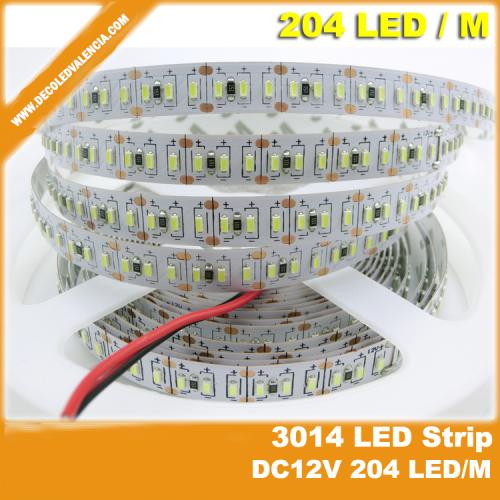 Tira LED SMD 3014 18 W/m 12V IP44 1 metro