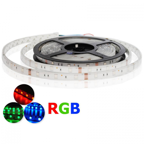 Tira LED 5050 RGB 7,2 W/m 12V IP68 5 metros Sumergible