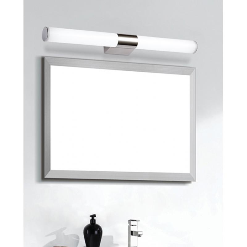 Aplique led cromado para espejo de ba o de 8 12 y 16w - Apliques espejo bano baratos ...
