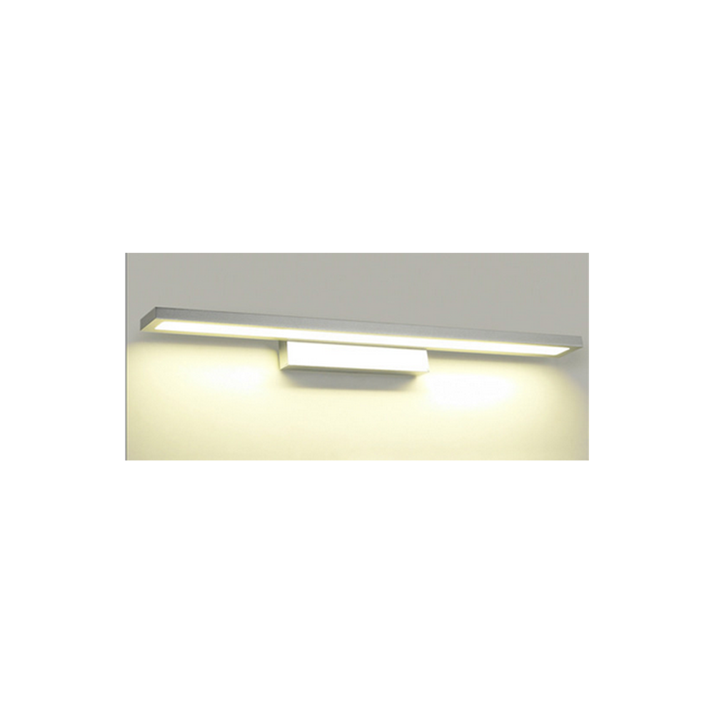 Aplique led para espejo de ba o de 8 y 12w lacado blanco - Aplique espejo bano ...