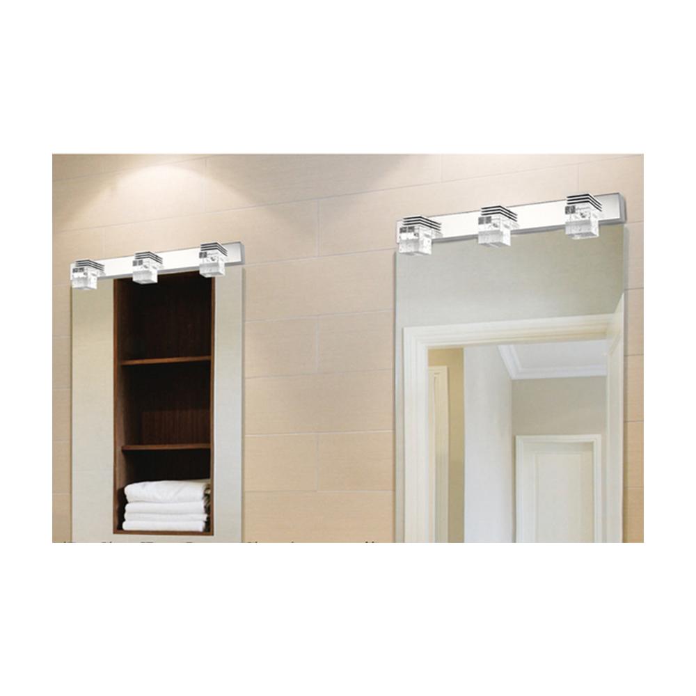 Aplique led 9w cromado y de cristal para espejo de ba o - Aplique espejo bano ...