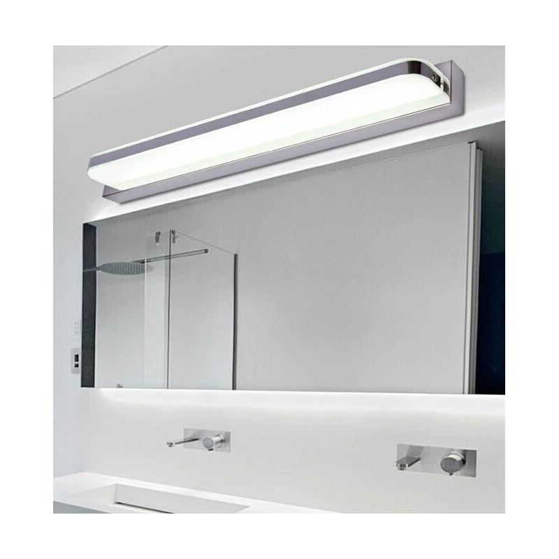 Aplique led cromado para espejo de ba o de 14 y 20w - Lampara para espejo de bano ...