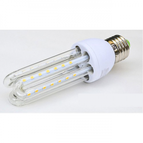 Bombilla E27 9W LED CRISTAL 360º 230V