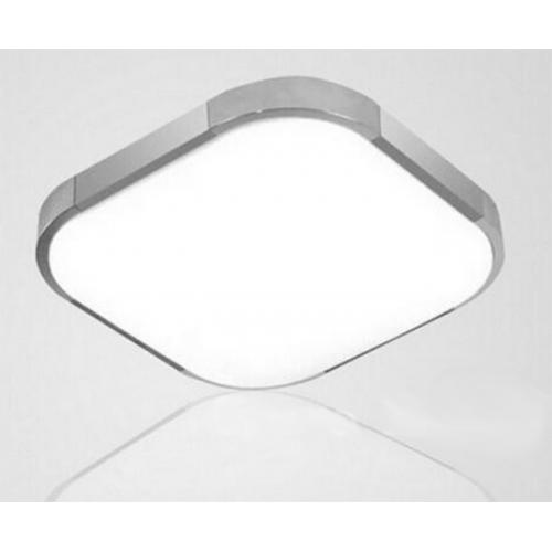 Plafón LED 15W Cuadrado Aluminio-Cromo