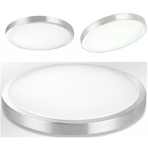 Plafón LED 24W Contorno Aluminio
