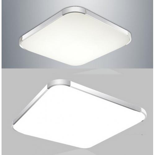 Plafón LED 24W Cuadrado Aluminio-Cromo
