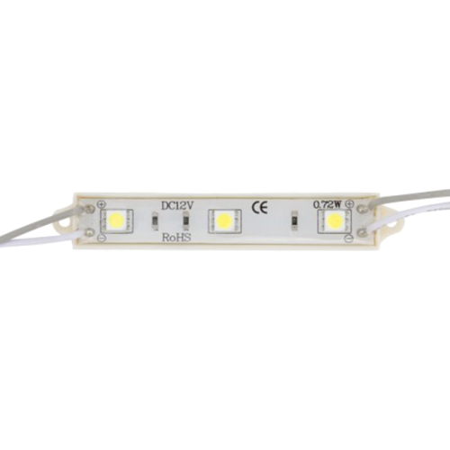 Módulo 3 LED SMD 5050 0,72W 12V IP65