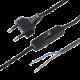 Cable con enchufe e interruptor Negro