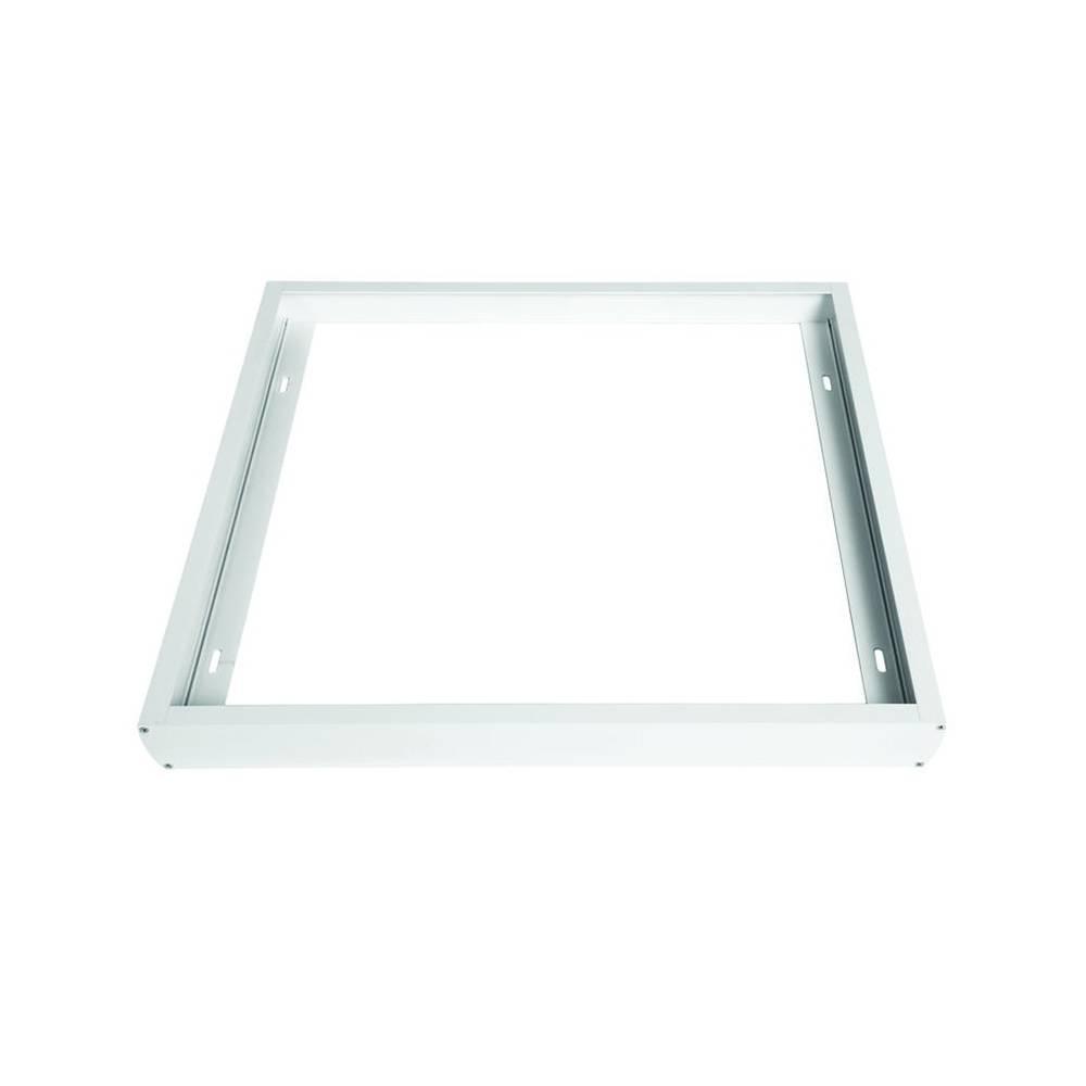 Marco blanco panel led 60cm for Paneles led de superficie
