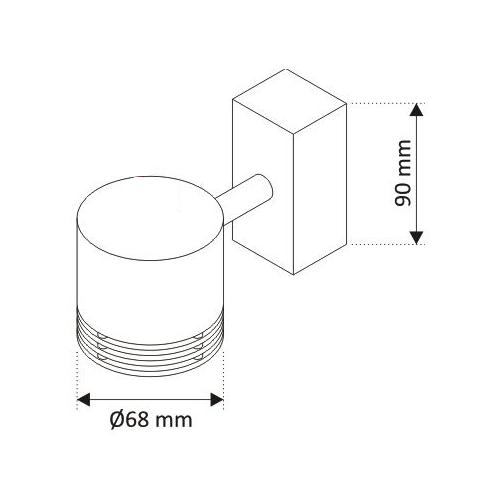 Aplique superficie Orientable LED GU10