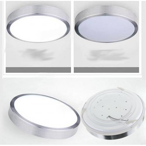 Plafón LED detector movimiento 15W Aluminio