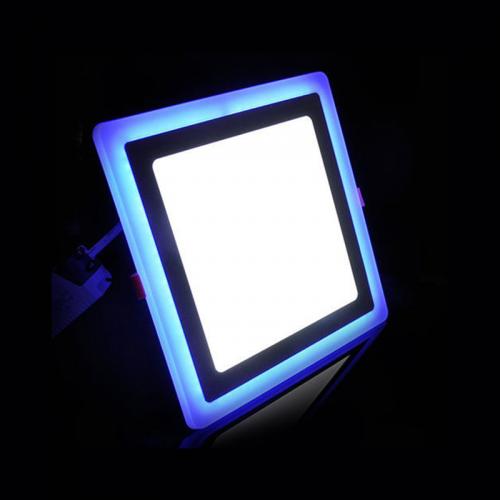 Downlight LED 20W+4W Contorno Azul Cuadrado