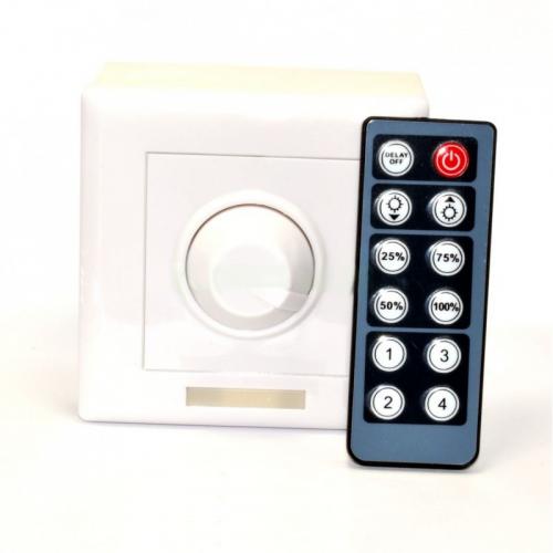 Dimmer- Regulador tira de LED 12-24V con mando IR