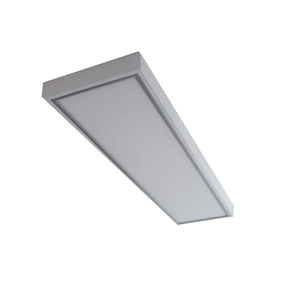 Marco blanco panel led 120cm for Paneles led de superficie