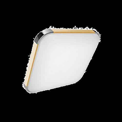 Plafón LED 15W Cuadrado Madera-Cromo