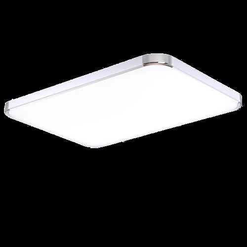Plafón LED 64W Rectangular Aluminio-Cromo