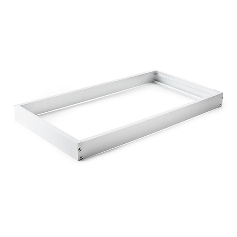 Marco blanco panel led 30cm for Paneles led de superficie