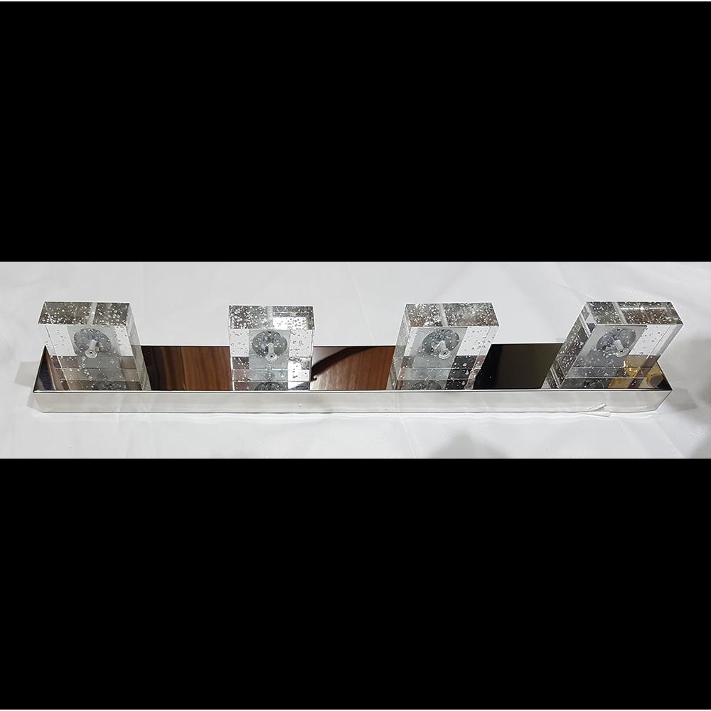 Aplique led espejo 12w cristal - Aplique espejo bano led ...