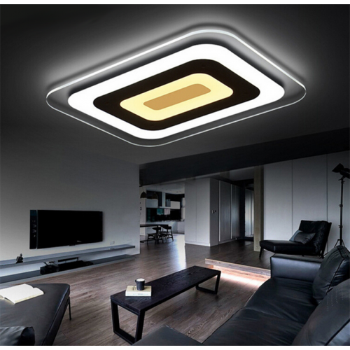 Plafón LED 70W Rectangular metacrilato 3Col. BlancoFrío-Natural-Cálido