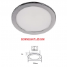 Downlight LED SMD 18W CROMO 230V