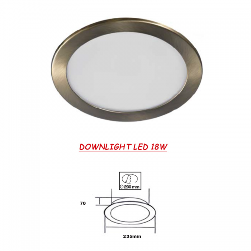 Downlight LED SMD 18W CUERO 230V