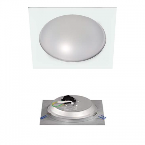 Downlight LED Cuadrado 18W Aluminio Blanco