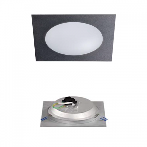 Downlight LED Cristal Gris Metálico 18W