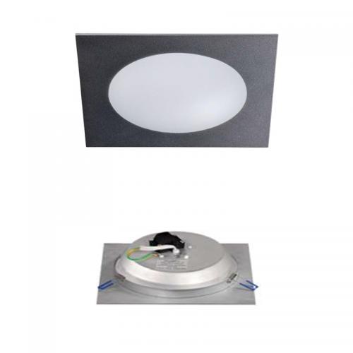 Downlight LED Cristal Gris Metálico 18W