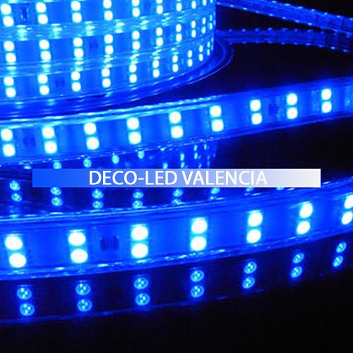 Tira LED SMD 2835 13 W/m AZUL 230V IP67 1 metro